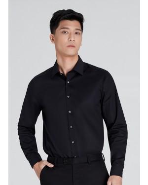 OLYMP เสื้อเชิ้ตแขนยาว ทรง Body Fit สีดำ