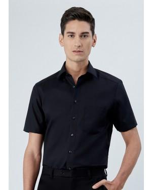 OLYMP เสื้อเชิ้ตผู้ชาย แขนสั้น ทรงตรง Modern Fit สีดำ