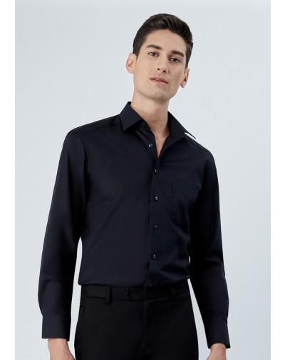 OLYMP เสื้อเชิ้ตแขนยาว ทรงตรง Modern Fit สีดำ