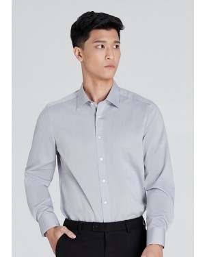 OLYMP เสื้อเชิ้ตแขนยาว ทรง Body Fit สีเทา