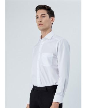OLYMP เสื้อเชิ้ตแขนยาว ทรง Modern Fit สีขาว ผ้าเรียบ