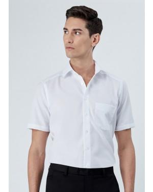 OLYMP เสื้อเชิ้ตผู้ชาย แขนสั้น ทรงตรง Modern Fit สีขาว